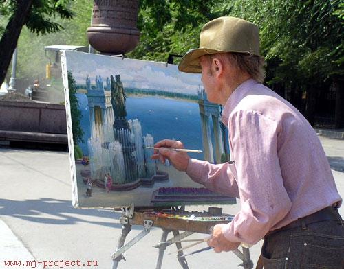 Художник на набережной