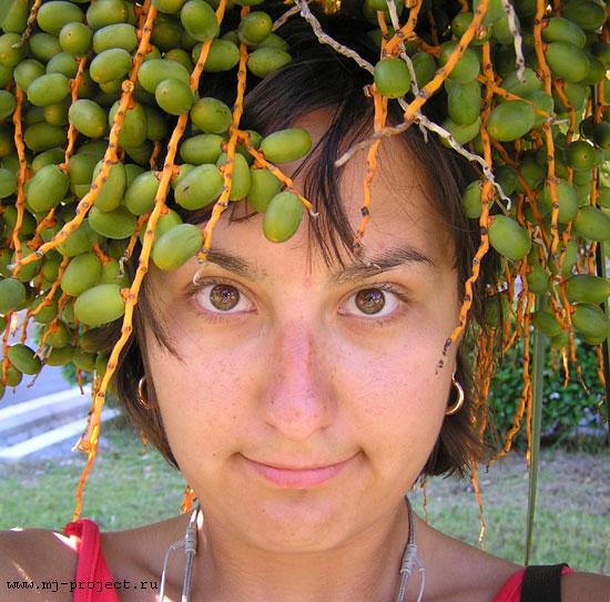 Девушка в пальме